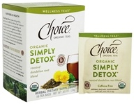 Choice Organic Teas - Wellness Teas Simply Detox - 16 Tea Bags