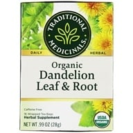 Traditional Medicinals - Organic Dandelion Leaf & Root - 16 Tea Bags