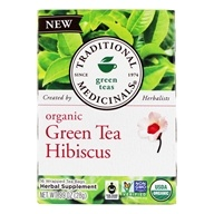 Traditional Medicinals - Organic Green Tea Hibiscus - 16 Tea Bags