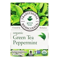 Traditional Medicinals - Organic Green Tea Peppermint - 16 Tea Bags