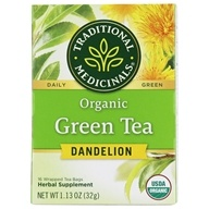 Traditional Medicinals - Organic Green Tea Dendelion - 16 Tea Bags