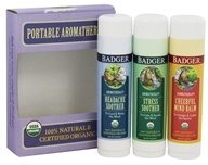 Badger - Aromatherapy Mind Balm Variety Pack - 3 Pack