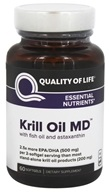 Quality Of Life Labs - Krill Oil MD - 60 Softgels