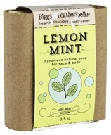 Biggs & Featherbelle - Merry Mint Handmade Natural Soap Lemon Mint - 3.5 oz.