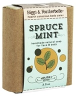 Biggs & Featherbelle - Merry Mint Handmade Natural Soap Spruce Mint - 3.5 oz.