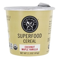 Vigilant Eats - Organic Superfood Oat-Based Cereal Coconut Maple Vanilla - 2.7 oz.