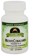 Source Naturals - Vegan True MethylCobalamin Cherry 1 mg. - 60 Tablets