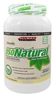 AllMax Nutrition - IsoNatural Whey Protein Isolate Vanilla - 2 lbs.
