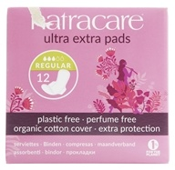 Natracare - Organic Cotton Cover Ultra Extra Pads Normal - 12 Pad(s)