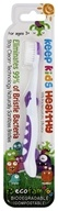 EcoFam - Anti-Microbial Bristles Biodegradable Kids Toothbrush Purple