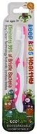 EcoFam - Anti-Microbial Bristles Biodegradable Kids Toothbrush Pink