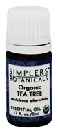 Simplers Botanicals - Organic Essential Oil Tea Tree - 5 ml.
