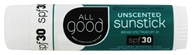 Elemental Herbs - All Good Sunscreen SPF 30 Sunstick Unscented - 0.06 oz.
