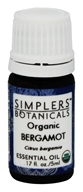 Simplers Botanicals - Organic Essential Oil Bergamot - 5 ml.