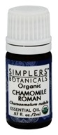 Simplers Botanicals - Organic Essential Oil Chamomile Roman - 2 ml.