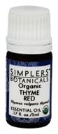 Simplers Botanicals - Organic Essential Oil Thyme Red - 5 ml.