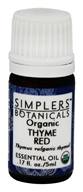 Organic Essential Oil Thyme Red - 0.17 fl. oz. by Simplers Botanicals