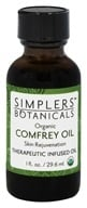 Simplers Botanicals - Organic Therapeutic Infused Oil Comfrey - 1 oz.