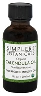 Simplers Botanicals - Organic Therapeutic Infused Oil Calendula - 1 oz.