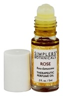 Simplers Botanicals - Therapeutic Perfume Oil Rose - 5 ml.