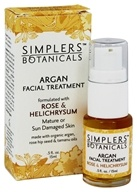 Simplers Botanicals - Organic Argan Facial Treatment Rose & Helichrysum - 15 ml.