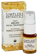 Simplers Botanicals - Organic Argan Facial Treatment Neroli & Vetiver - 15 ml.