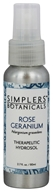 Simplers Botanicals - Therapeutic Hydrosol Spray Rose Geranium - 2.7 oz.