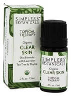 Simplers Botanicals - Topical Therapy Organic Clear Skin - 5 ml.