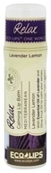 Eco Lips - One World Relax Calming Lip Balm Lavender Lemon - 0.25 oz.