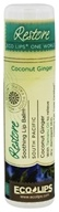 Eco Lips - One World Restore Soothing Lip Balm Coconut Ginger - 0.25 oz.