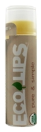 Eco Lips - Pure & Simple Lip Balm Coconut - 0.15 oz.