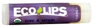 Eco Lips - Pure & Simple Lip Balm Grape - 0.15 oz.