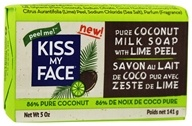 Kiss My Face - Coconut Milk Bar Soap with Lime Peel - 5 oz.
