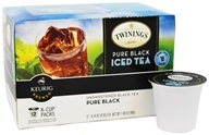 Twinings of London - Unsweetened Black Tea Pure Black Iced Tea - 12 K-Cup(s)