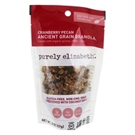 Purely Elizabeth - Organic Ancient Granola Cereal Cranberry Pecan - 2 oz.