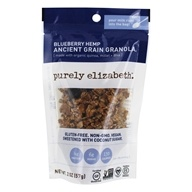 Purely Elizabeth - Organic Ancient Granola Cereal Blueberry Hemp - 2 oz.