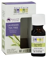 Aura Cacia - Pure Essential Oils Lavender Tea Tree - 0.5 oz.