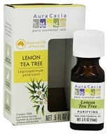 Aura Cacia - Pure Essential Oils Lemon Tea Tree - 0.5 oz.