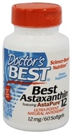 Doctor's Best - Best Astaxanthin Featuring AstaPure12 12 mg. - 60 Softgels