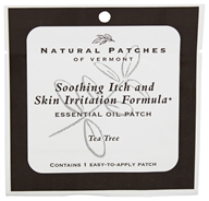 Natural Patches of Vermont - Soothing Itch & Skin Irritation Formula Essential Oil Body Patch Tea Tree - 1 Patch(es)