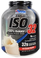 ANSI (Advanced Nutrient Science) - Iso 32 Whey Protein Isolate Powder Ice Cream Vanilla - 5 lbs.