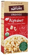 Back To Nature - Organic Alphabet Macaroni & Cheese Dinner White Cheddar - 6 oz.