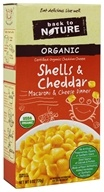 Back To Nature - Organic Shells & Cheese Dinner Cheddar - 6 oz.
