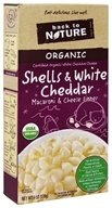 Back To Nature - Organic Shells & Cheese Dinner White Cheddar - 6 oz.