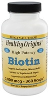 Healthy Origins - High Potency Biotin 5000 mcg. - 360 Vegetarian Capsules