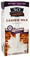 So Delicious - Dairy Free Cashew Milk Beverage Unsweetened Vanilla - 32 oz.