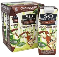 So Delicious - Dairy Free Coconut Milk Beverage Chocolate - 4 x 8 oz. Cartons