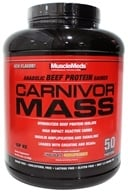 MuscleMeds - Carnivor Mass Anabolic Beef Protein Gainer Chocolate Peanut Butter - 5.6 lbs.