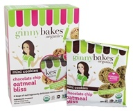 Ginny Bakes - Organic Gluten Free Fresh Baked Cookies Mini Chocolate Chip Oatmeal Bliss - 7.5 oz.
