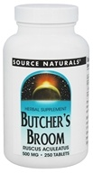 Source Naturals - Butcher's Broom 500 mg. - 250 Tablets